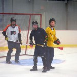 The only regulation broomball nets in Boston.